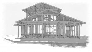 木造軸組みスケッチ